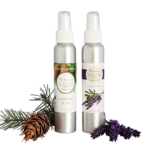 Victoria's Lavender Room Spray All-Natural Home Fragrance 100% Pure Essential Oil Air Freshener Odor Eliminator (Lavender & Fir)   MADE IN USA