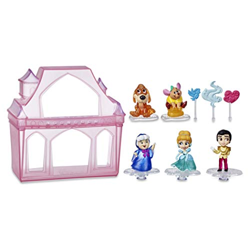 Disney Princess Comics Surprise Adventures Cinderella with 5 Dolls, Accessories, and Display Case, Fun Unboxing Toy for Kids 3 Years and Up