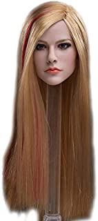 HiPlay 1/6 Scale Female Figure Head Sculpt, Beuty Charming Girl Doll Head for 12