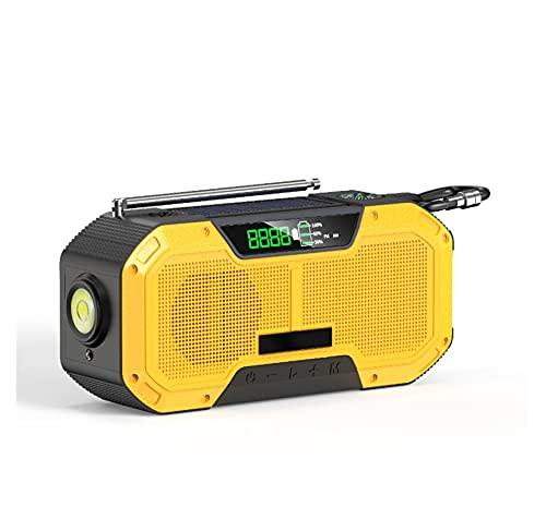 Radio De Emergencia Manivela Solar Ipx5 Radio Meteorológica A Prueba De Agua Con Alerta Noaa 2000mah Radio De Manivela Portátil Recargable Linterna Cargador De Teléfono Celular Radio Portátil