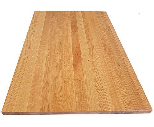Tischplatte Holz massiv Eiche 26mm geölt/unbehandelt Esstisch Couchtisch (Holz geölt, 120 x 80)