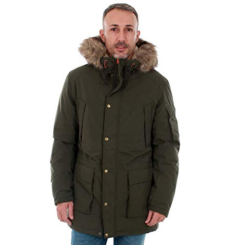 JACK & JONES Herren Parka JORLATTE Jacket, Grün (Forest Night), Medium