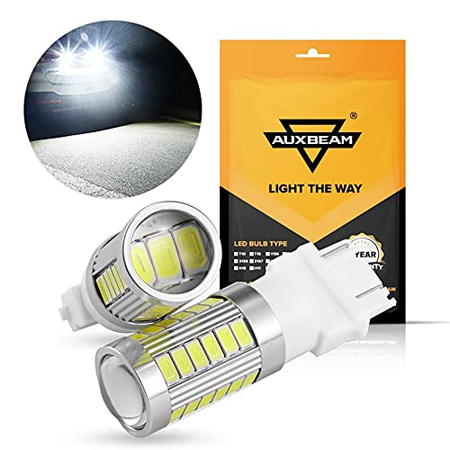 Auxbeam 3157 T25 P27/5W LED Light Bulbs, Extremely Bright White 6000LM LED Bulb...