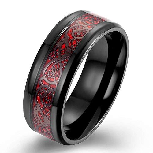 PLKN Anillos de acero de tungsteno para hombre, anillo de tungsteno negro mate acabado biselado borde pulido comodidad, anillos de boda para hombres y mujeres-G_6#