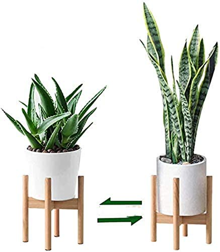Pflanzenständer, Retro Mitte des Jahrhunderts Blumenregal Holz Pflanzenregal Holz Blumentopfständer für Hause Zimmer Balkon Besten (1 Stück)