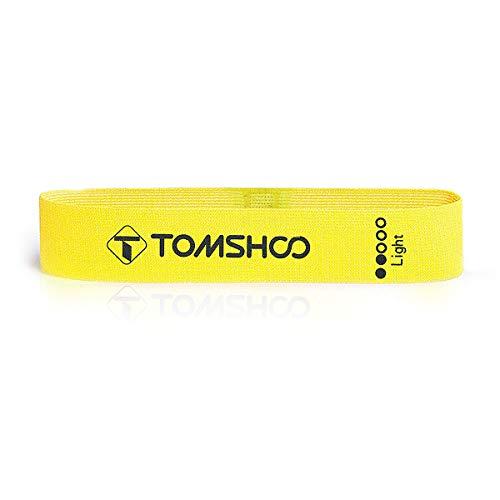 TOMSHOO - Bandas de Resistencia (4 Unidades) para Entrenamiento en 4 Diferentes Grosores de Resistencia, Ideal para Desarrollo Muscular, Fisioterapia, Pilates,Yoga, Gimnasia y Crossfit (Amarillo)