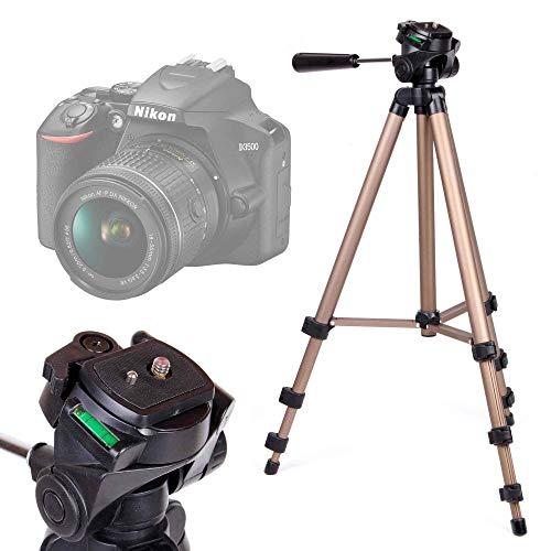 DURAGADGET Trépied Ajustable Solide pour Canon EOS 4000D, EOS 2000D, Nikon D3500, Fujifilm Instax SQ6 Appareil Photo Reflex/argentique - qualité Professionnelle
