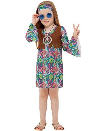 Funidelia   Disfraz de Hippie para niña Talla 10-12 años ▶ Años 60, Hippie, Flower Power, Décadas - Multicolor