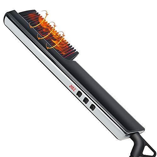 LED-Temperaturanzeige Bartglätter Schnelle Bartkamm - Multifunktions Haarglätter Bürste für Frauen und Männer Bart Glätter Glätteisen Bartkamm Haarkamm Haarglättung Frauen Anti Verbrühen