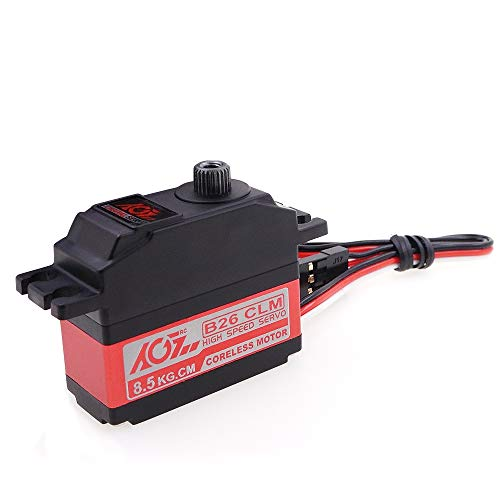 AGFrc 8.5KG Digital Coreless Servo - Motor High Speed with Aluminum Middle Shell Titanium Gear for 1/12 on Road Small Planes RC Car Helicopter (B26CLM (8.5KG))
