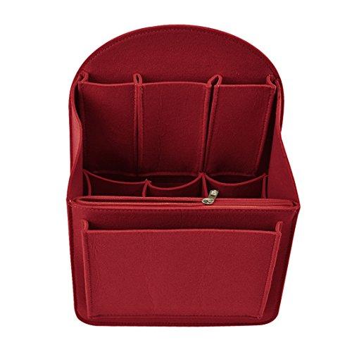 Jiyaru Felt Backpack Organizer Insert for Rucksack Handbag Shoulder Bag Red M