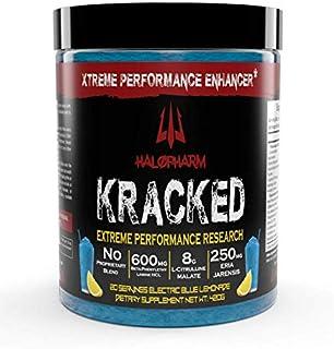 Sponsored Ad - Halopharm KRACKED Fully Loaded Nitric Oxide Pre Workout Powder - Extreme Strength Stimulant - 8000mg Citrul...