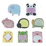 Super Sticky Notes- Zoo Cute Animals -16 Pastiglie per confezione - 20 fogli per riquadro - Per confezione 8 animali all'interno-80mm x 54 mm