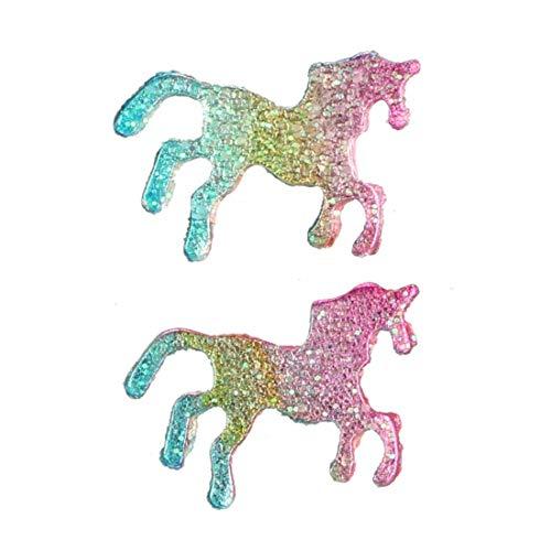 ZJN-JN Pendiente Glitter Estilo Americano Pendientes Pony Fresca pequeña de Color Europea y Animal Pendientes del Perno Prisionero de Caballo Mujer Pendiente