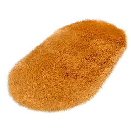 JJZZ Ovalado Home - Alfombra de baño antideslizante, suave imitación de pelo sintético, alfombra para cocina, inodoro, 40 – 180 cm, multicolor