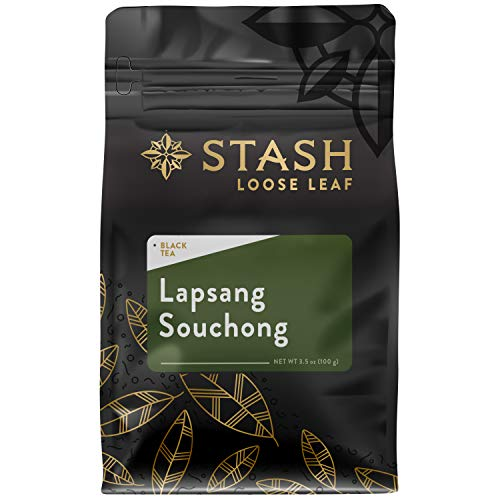 Stash Tea Lapsang Souchong Tea Loose Leaf 3.5 Ounce Pouch Loose Leaf Premium Black Tea for Use with Tea Infusers Tea Strainers or Teapots, Drink Hot or Iced, Sweetened or Plain