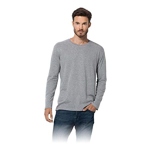 Stedman Apparel Classic-T Long Sleeve/ST2500 T-Shirt, Gris-Gris, X-Large Homme