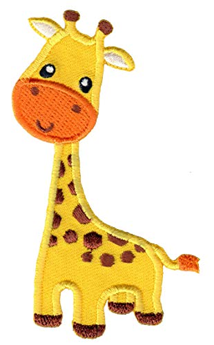 PatchMommy Giraffe Patch, Iron On / Sew On - Appliques for Kids Children