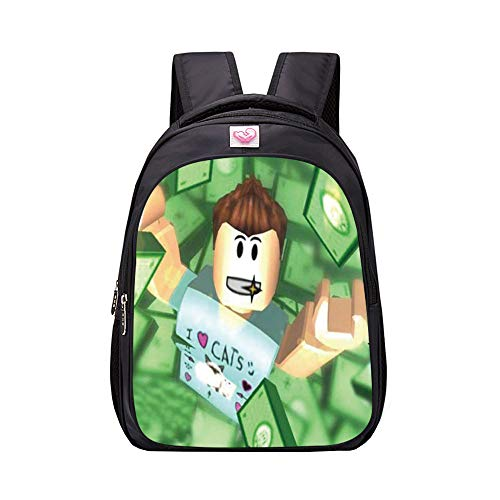 NINIUBAL Unisex Roblox School Backpack Game Printed Backpack Suitable for Boy and Girl Casual Backpack