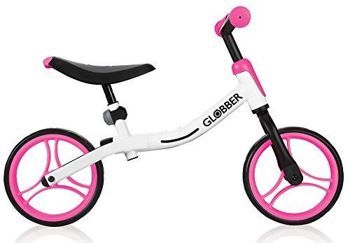 Globber 610-162 Go Vélo Mixte pour Enfant Blanc/Rose Fluo Taille 1