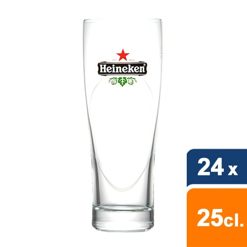 Heineken Birra Ellipse in vetro 25CL–24pezzi