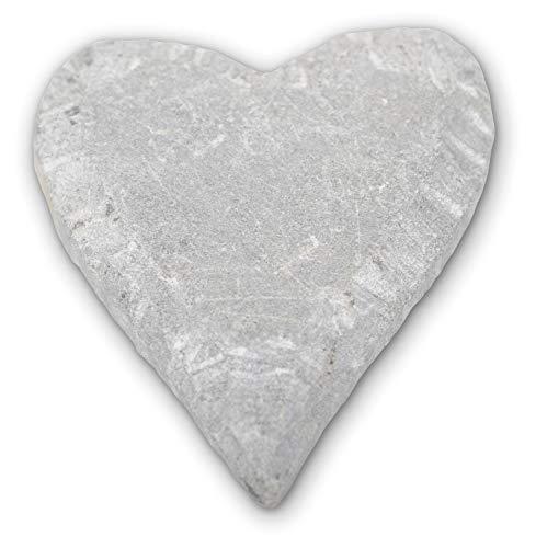 Honsell 79211 - Speckstein Rohling Herz, vorgefertigte Figur aus Speckstein, ca. 10 cm groß, zum Bearbeiten mit Raspel und Feile, ideal auch für Kinder