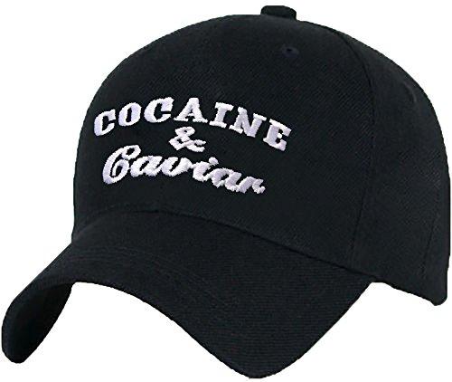 MFAZ Morefaz Ltd Damen Herren Baumwolle Baseball Cap Caps Caviar White Adjustable Strap