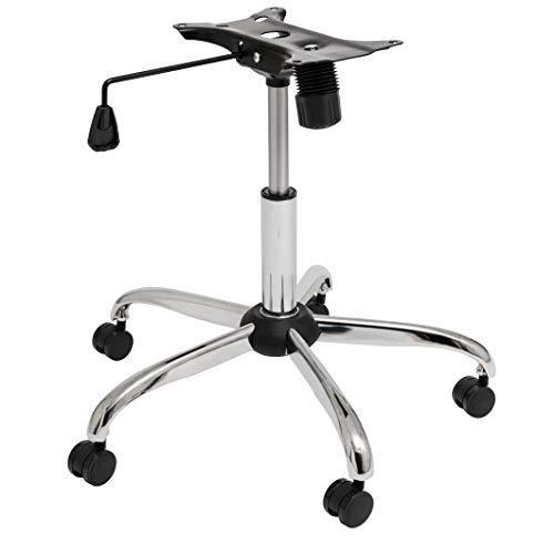 BiMi - Base per Sedia da Ufficio con rotelle, Alta qualità, Kit restauro sedie