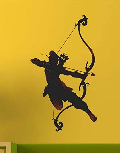Desconocido Sataanreaper Presents Dios Ram con Un Arco Y Una Flecha' Etiqueta De La Pared (PVC Vinilo, 50 Cm X 70 Cm, Multicolor) #SR-SR-132