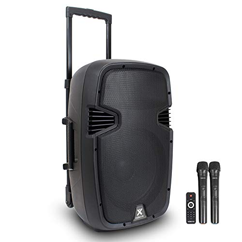 VONYX Portable PA Speaker System 12 inch with Bluetooth and Microphones...