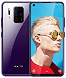 Teléfono Movil Libre,OUKITEL C18 Pro Smartphone de 6.55',4GB RAM + 64GB ROM, procesador Octa-Core Helio P25 Gaming,Cámara 16MP + 8MP + 5MP + 2MP,Batería 4000mAh, Face ID+Fingerprint(Púrpura)