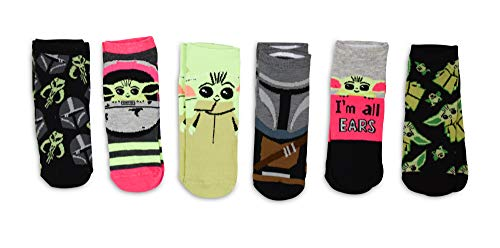 Star Wars The Mandalorian The Child Grogu Juniors/Womens 5 Pack Ankle Socks Size