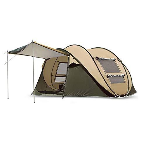 Tents de Camping instantanée étanche à la Pluie 4-5 Personne Pliage Portable de Plage Cabana 100% étanche Anti UV avec Sac de Transport, s'installe en Quelques Secondes (280 * 200 * 120 cm)