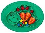 Qshare - Assiettes en silicone pour bébés, nourrissons, enfants en bas âge et enfants, 100% sans BPA et approuvées par la FDA, aspiration forte à la table, lave-vaisselle et au micro-ondes