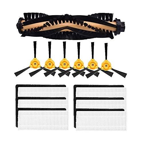 Houzhen Home Limpieza Robot aspirador HEPA filtro lateral cepillo principal filtro cepillo para recambios Fit For CONGA EXCELLENCE 990 (Color: Kit) (Color: Kit 1)