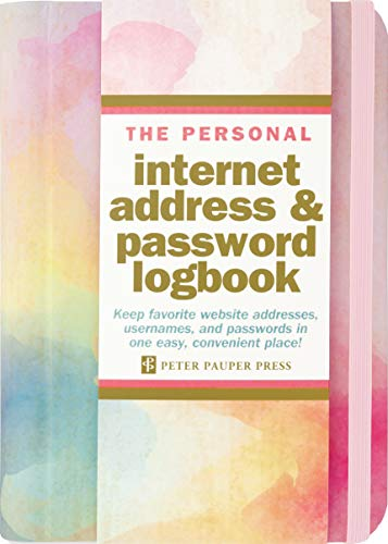 Watercolor Sunset Internet Address & Password Logbook (removable cover band for security)