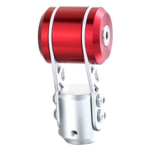 Bashineng Aluminum Gear Stick Shifter Knob, T Shape Alloy MT Transmission Shift Head for Most Manual Automatic Cars (Red)