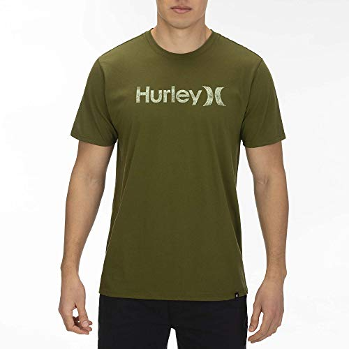 Hurley M One&Only Push-Through S/S tee Camisetas, Hombre, Legion Green, S