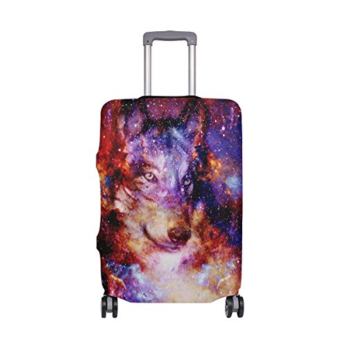 MyDaily MyDaily Space Wolf Galaxy Gepäckschutzhülle für Koffer, Spandex, für 45,7-81,3 cm