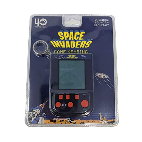 Official Space Invaders Game Keyring with original sounds and gameplay