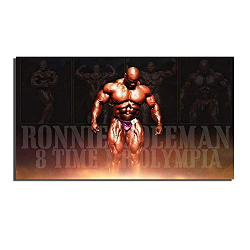 WSHIYI Ronnie Coleman - Bodybuilder Mr Olympia Poster Print Wall Art Picture for Living Room Home Decor Canvas painting-50x100cm sin Marco