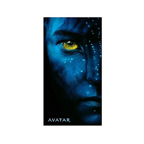 Soleil d'ocre Drap DE Plage Velours Imprime 'Avatar Movie Eye' 152x76 cm