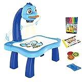 Projecteur de suivi et de dessin Toy, Kids Drawing Projector Table Bureau d'apprentissage de dessin avec 3 écrans différents 12 crayons de couleur Jouet Artisanat Cadeau pour les enfants
