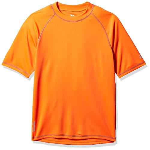 ZeroXposur Mens Short Sleeve UPF 50+ Solid Dri Fit Rashguard Hazard X-Large