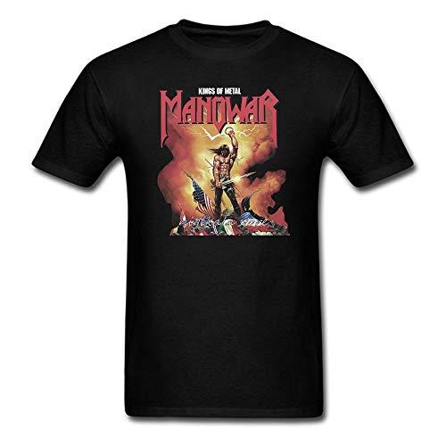Summer Print Manowar T Shirt Hip Hop Casual Short Sleeve T Shirt O Neck Punk Shirts Men Tees