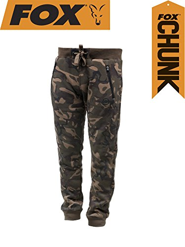 FOX Chunk Camo Lined Joggers - Angelhose, Anglerhose, Hose für Angler, Angelhosen, Anglerhosen, Jogginghose, Größe:XL