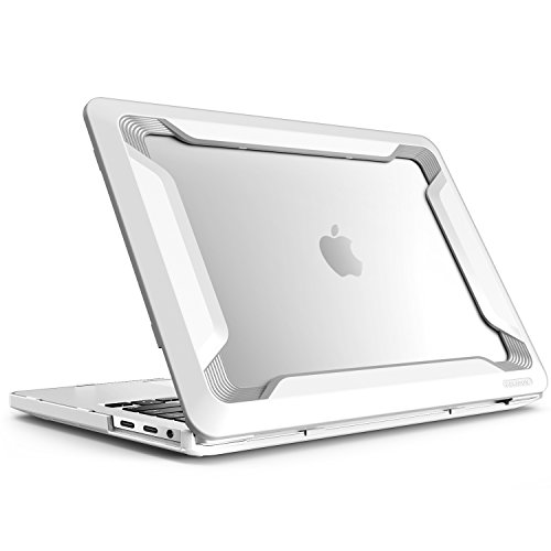i-Blason Case Designed for MacBook Pro 13' (2019 2018 2017 2016 Release A2159/A1989/A1706/A1708), [Heavy Duty] Cover with TPU Bumper for Macbook Pro 13' With or Without Touch Bar and Touch ID (White)
