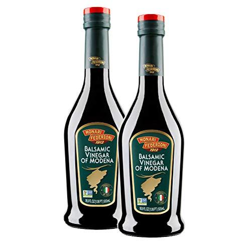 Monari Federzoni Balsamic Vinegar of Modena, Great for Salads and Vegetable Seasoning, 16.9 oz (Pack of 2)