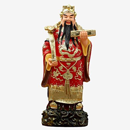 HALASCP Estatua de Feng Shui CAI Shen Adornos de Feng Shui Decoración Dios de la Fortuna Atrae Riqueza y Prosperidad Decoración de Oficina en casa Regalo Espiritual Regalo de año Nuevo Chino,18inch