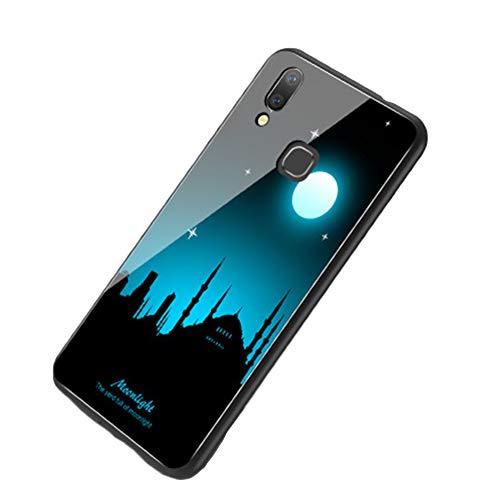 PengGengA Handyhülle Leuchtend Glas Schutzhülle Entwickelt Für Vivo-X20, X20Plus, X21Front Fingerprint Version, X21Post Fingerprint Version, X21I, X9/X9S, X9Plus/X9Splus, X23 4 Vivo-X21H